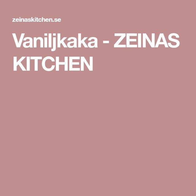 Vaniljkaka - ZEINAS KITCHEN
