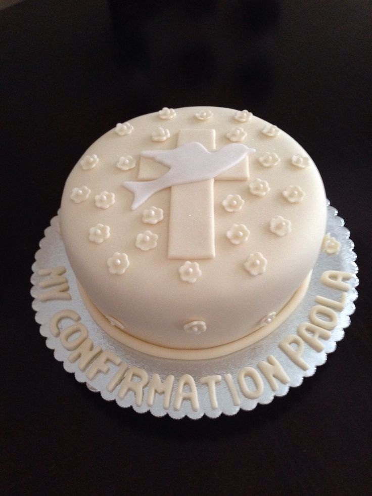 Confirmación torta