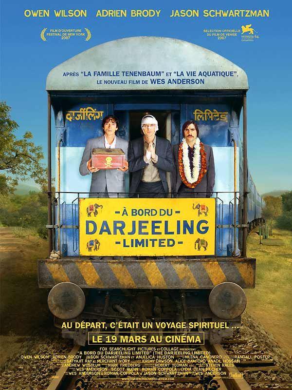 A bord du Darjeeling Limited de Wes Anderson avec Owen Wilson, Adrien Brody.