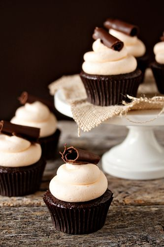 Grand Marnier Cupcakes....I had a Grand Marnier Chocoalate layer on my wedding cake....so delish....we for sure have to make these : )