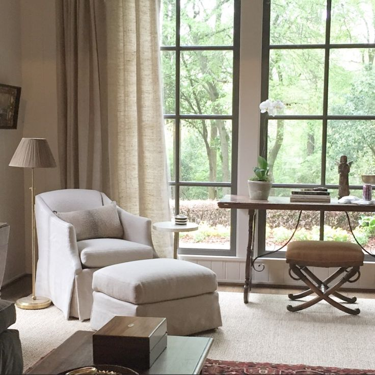 Living Room Reading Corner With Lee Industries Chair U0026 Circa Floor Lamp    KPB Studio