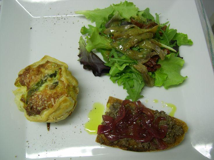 Locanda la Pieve Appetizer with local organics products