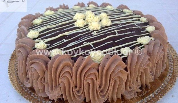 Τούρτα σοκολατίνα με γέμιση κρέμας τυριού και πραλίνα φουντουκιού, από την Ρένα Κώστογλου και το koykoycook.gr!