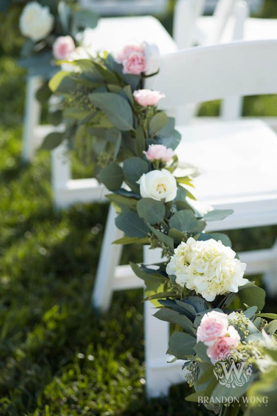 Gorgeous wedding ceremony floral garland  (Brandon Wong Photography)