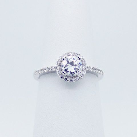 Cutie halo sterling silver ring – Imsmistyle.