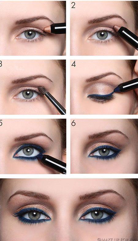 Aqua Eyeshadow Tutorial #eyemakeup #howto #teal
