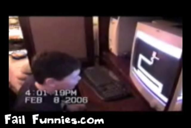 More @ http://www.failfunnies.com  When a chubby kid is pranked with a maze challenge, he fails to complete his mission & is surprised by a screaming exorcist creature. This scary game is a funny prank to play on your friends & will most likely find some random owned hilarious results like the one showed here with the chubby little kid. If your still bored, check out/add my profile/videos if you like 'fails' or are into that sort of thing.