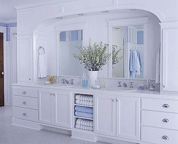 Double Vanity with Arched Surround