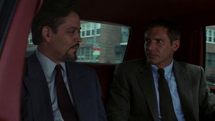 """Uznany za niewinnego"" (1990) = ""Presumed Innocent"" (1990), starring: Harrison Ford, Raul Julia"