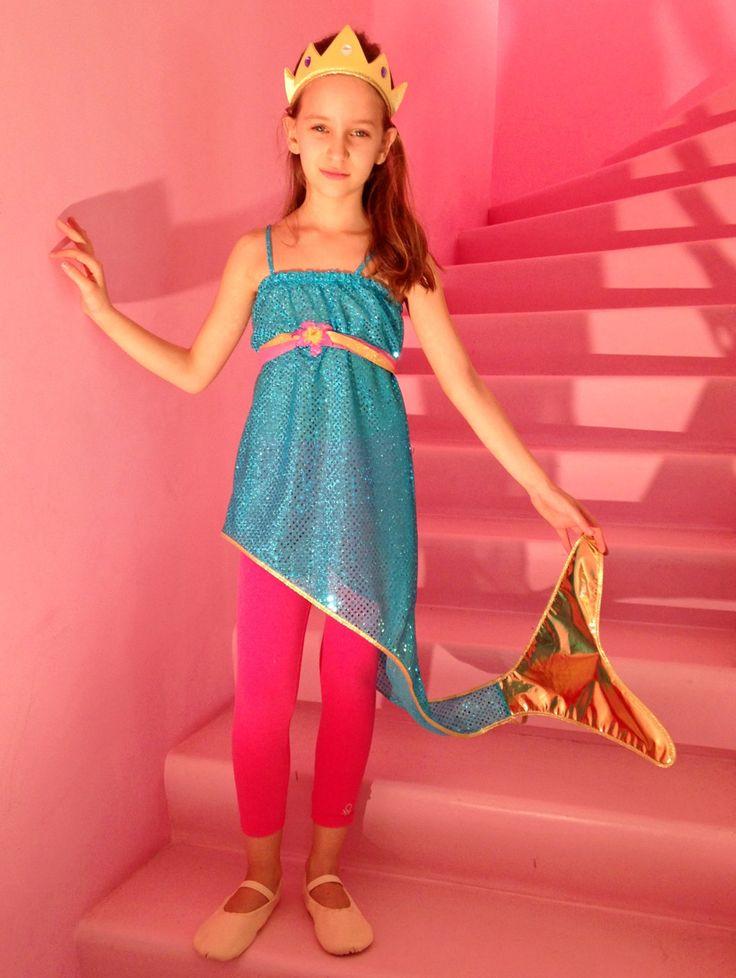 abito da sirena bambina - vestito Ariel turchese - abito carnevale bambina - regalo compleanno bambina - Tata Drama vestiti per giocare di SartoriaTataDrama su Etsy