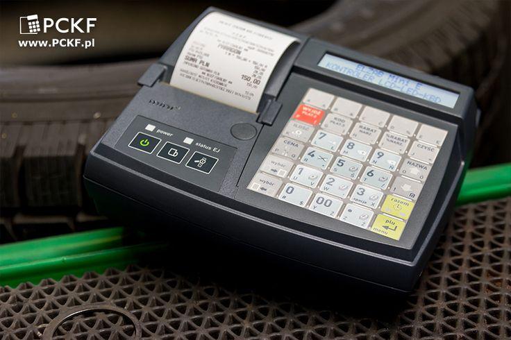 Elzab Mini E - mała kasa, która umożliwi szybką obsługę klientów warsztatu.