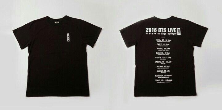 Bts Official Shop - Epilogue Tour Tshirt