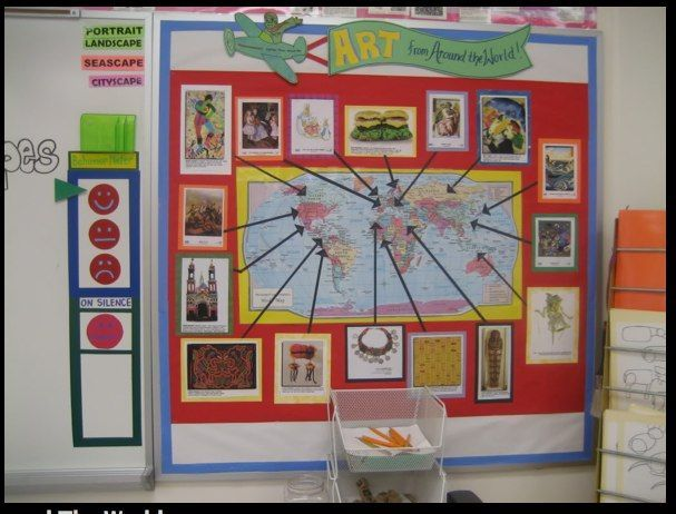 Map with Art for building visual schema throughout the year