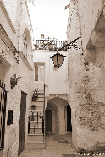 Cisternino, Puglia,  Recently declared one of the most beautiful villages of Italy by the National Association of Italian Municipalities (www.borghitalia.it), Cisternino has a tiny historical center of whitewashed houses. Conveniently located between Ostuni and Locorotondo, the village makes an ideal base to explore the Valle d'Itria.