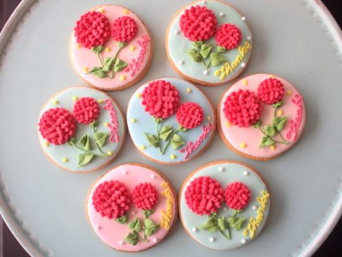 mother's day icing cookie