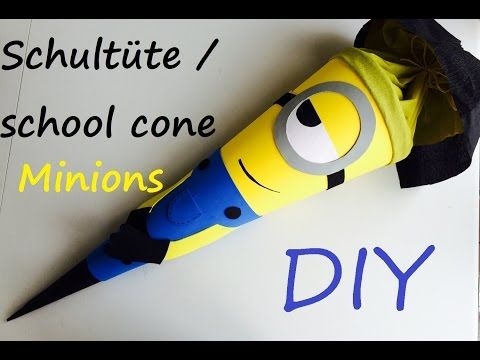 minions school cone/ Schultüte/ Zuckertüte (back to school inspired craft) - YouTube