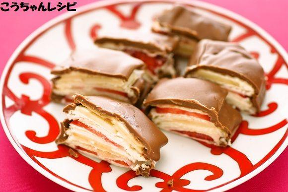 ミルフィーユチョコづつみ♪ -お菓子ミルフィーユの簡単な作り方