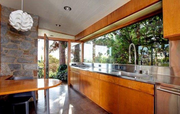 mid-century-modern-galley-kitchen #LGLimitlessDesign & #Contest