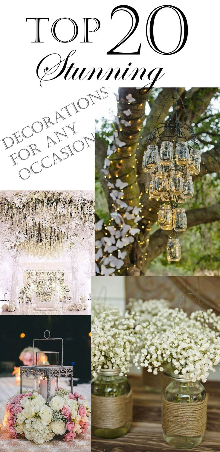 Top 20 Stunning Decorations For Any Occasion!  #decorations