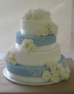 Sky Blue Cake Images : sky blue wedding cake!! Wedding Pinterest Beautiful ...