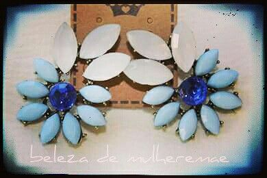 #earings #acessórios #blue #blueEarrings #statementearings #brincos
