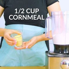 She pours cornmeal into a blender & wait til you see her living room now