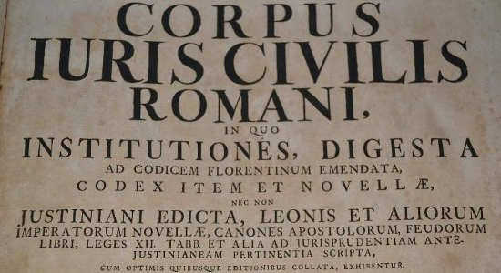 #OnThisDay in 529, First draft of Corpus Juris Civilis (jurisprudence) is issued by Eastern Roman Emperor Justinian I