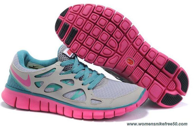 Cheap Nike Free Run 2 443815-031 Gray Jade Fuchsia Mens