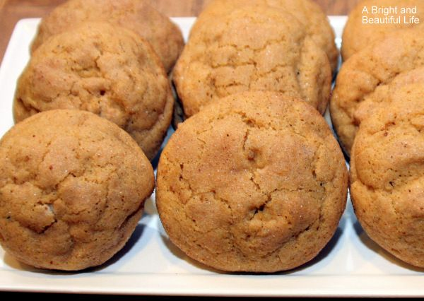 Pumpkin Cheesecake Snickerdoodles - A Bright and Beautiful Life