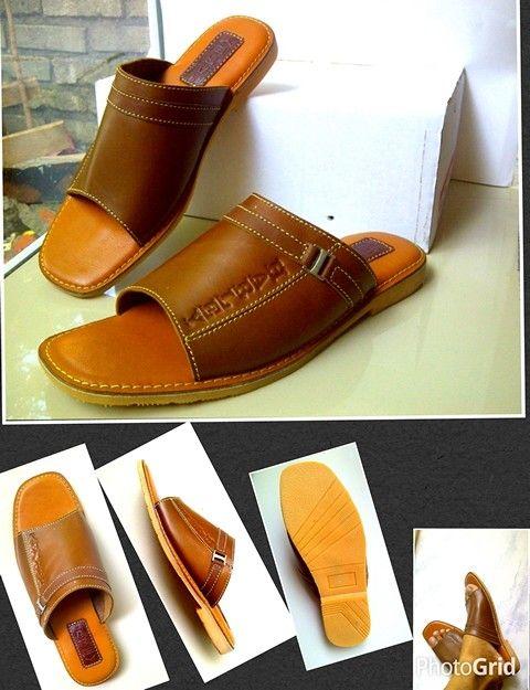 SHDP8  Sandal kulit asli Sol pentil lentur IDR.230.000