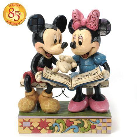 Figurine Mickey et Minnie 85ème Anniversaire