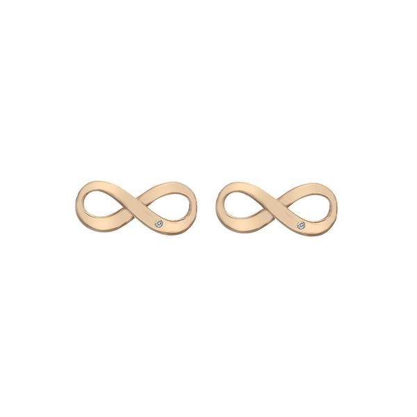 Looking for a contemporary uplift to your jewellery collection? These infinity earrings, measuring 15mm x 5mm, are crafted from sterling silver and rose gold pl