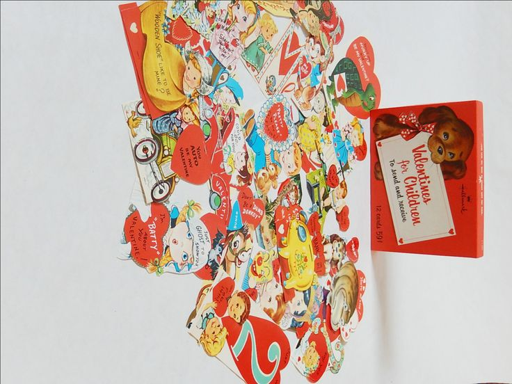 Vintage Valentines Day Card 28 Unused Childrens Valentine Cards Box Set Vintage Valentines Day Cards Original Box Collectible Valentines by LeasAtticSpace on Etsy