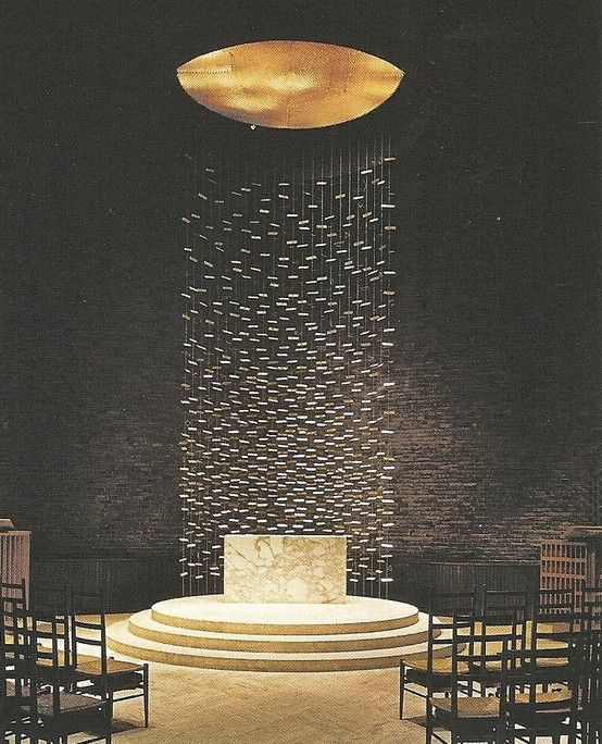 Harry Bertoia - alter in chapel at MIT