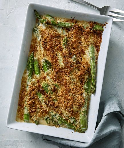 Cheesy Asparagus Gratin | These vibrant, seasonal recipes come together quickly, but are sure to wow everyone at your Easter table.