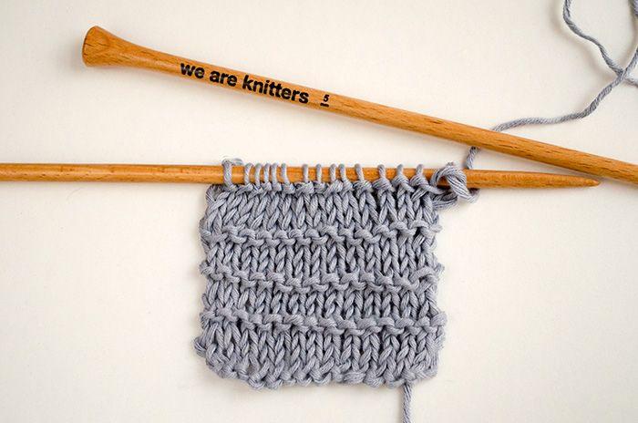 Comment tricoter le point mousse rayé