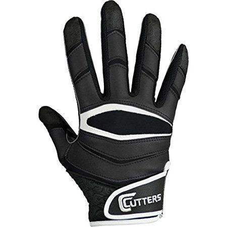 Cutters Gloves C-TACK Revolution Football Gloves (Black, Medium)