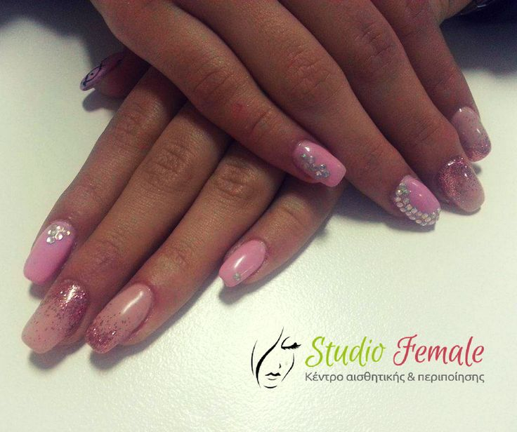 Nail art is love, nail art is life! #loveit #nailart  #with #glitter #design #strass #detail #nailartlover #nailartfantastic #nailporn #nailsalon #nailswag #skg #thessaloniki #beautysalon #naildesign #nailpolish #nails_greece #nailsoftheday #nailaddict #studiofemale