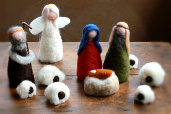 Nativity Angel White Angel Christmas Xmas by CloudBerryCrafts