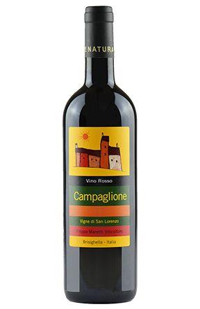 Campaglione Rosso. Vigne San Lorenzo. 100% Sangiovese fermentato e affinato in acciaio...