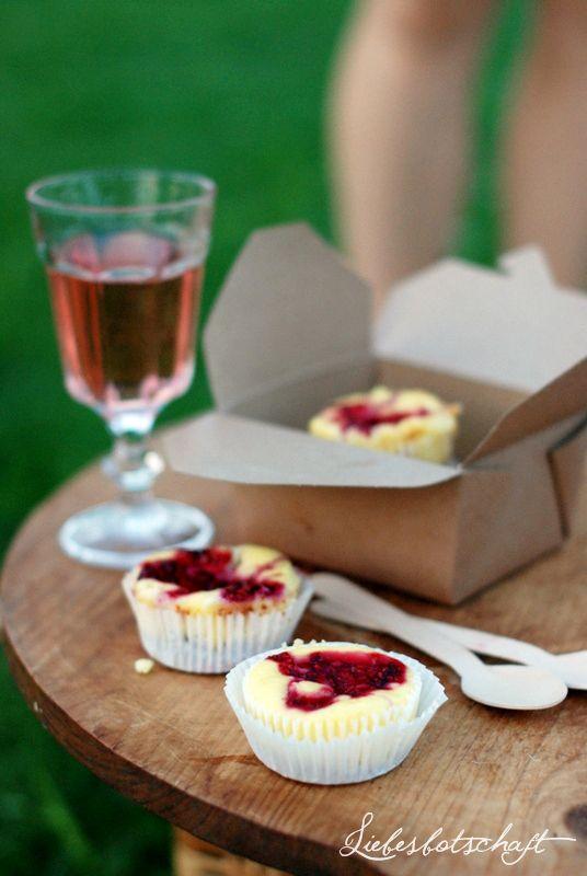 Liebesbotschaft - Himbeer-Cheesecake-Muffins