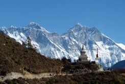 Stupa on the way #activeadventures.com Daniel Oster, 'EBC', November 2013   Certainly a once-in-a-lifetime experience, to reach Everest Base Camp.Begin your journey in Kathmandu, Nepal's bustling and colourful capital city, before taking a short flight to Lukla high in the Himalayas, the gateway to the Solu Khumbu region and the starting point for your trek to Everest Base Camp.  http://activeadventures.com/himalayas/trips/everest-base-camp-trek