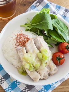 レンジde肉汁たっぷりカオマンガイ