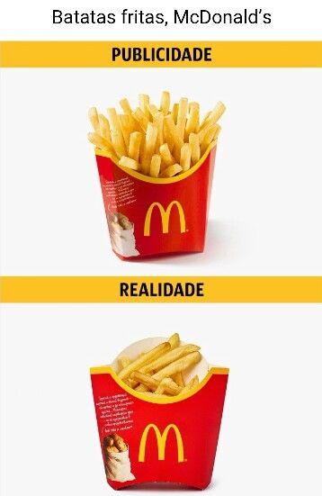 FAST FOOD - Publicidade VS Realidade