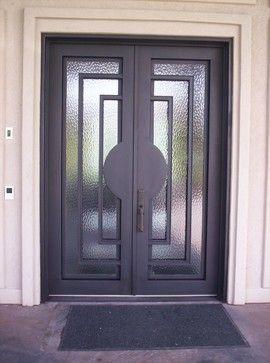 houzz.com windows and doors | Contemporary Iron Door contemporary-windows-and-doors