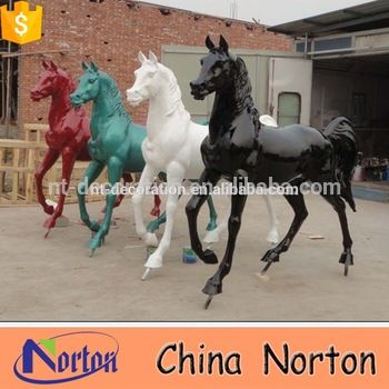 Fiberglass/resin life size animal horse statue for sale NTRS467A