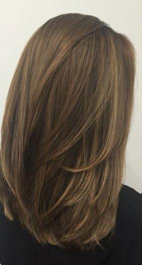penteados curtos, longos e retos, penteados retos de comprimento médio, str …   – medium hair ideas