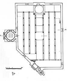 Plan of Beyşehir Eşrefoğlu cami. The only wooden Mosque.