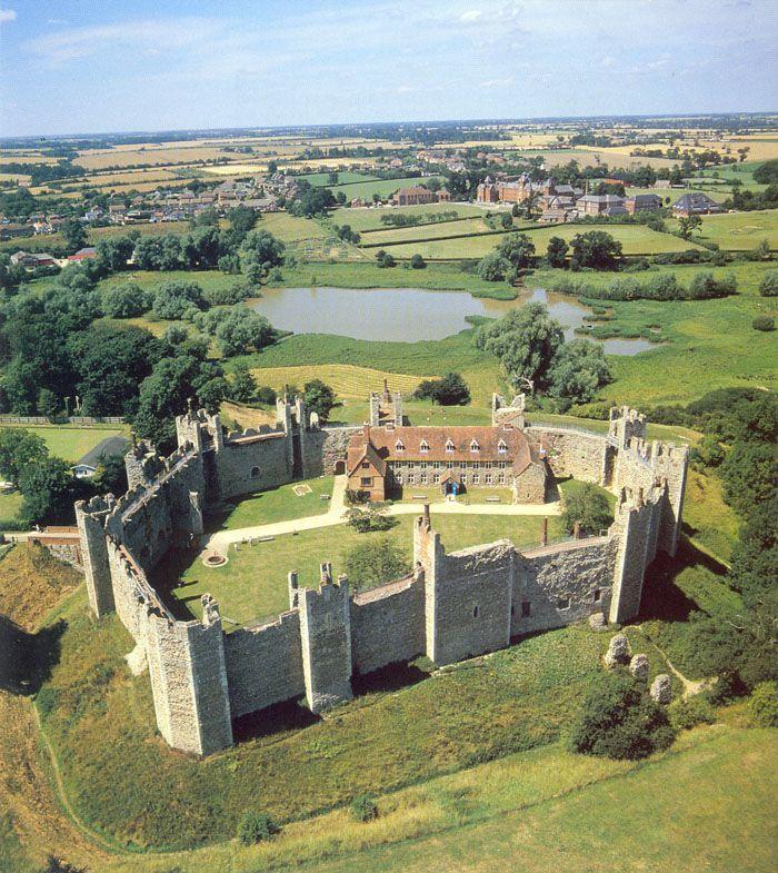 The 12th century Framlingham Castle - Suffolk. UK