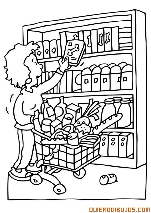 grocery store coloring pages - photo#11